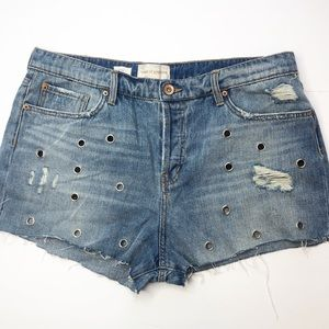 Band of Gypsies Studded Jean Shorts